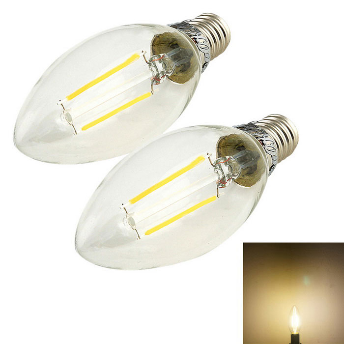 YouOkLight E14 2W 180lm Warm White LED Filament Candle Light (2PCS)