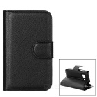 Protective PU Smart Case w/ Stand & Card Slots for Samsung Galaxy Young 2 G130H - Black
