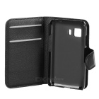 PU Smart Case w/ Stand, Card Slots for Samsung Young 2 G130H - Black