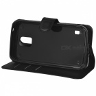Lichee Pattern Case w/ Stand, Card Slots for Samsung S5 Active - Black