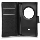 Litchi Pattern PU Full Case w/ Card Slots for Nokia Lumia 1020 - Black