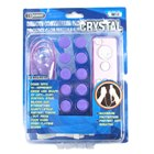 Crystal Case and Analog Stick Covers for Wii Remote and Nunchuck (Pink)