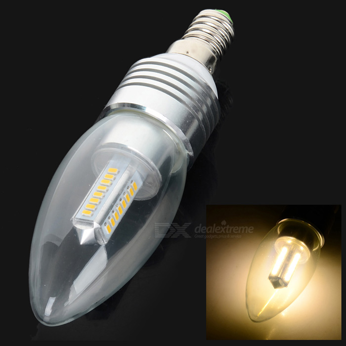 E14 4W 300lm 32-SMD 3014 LED warm wit lamp 3000K (AC 85 ~ 265V)
