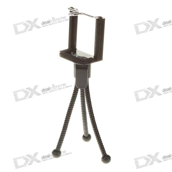 Anti-rust Tripod for MP4/Cellphones/Digital Cameras - Black