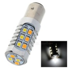 1157 2.3W LED Car Clearance / Backup Lamp White + Warm White 6500K / 3500K 350lm 22-2835 SMD (12V)