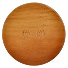 S-what Round Wooden QI Standard Wireless Charger Charging Pad for Samsung & More - Brown
