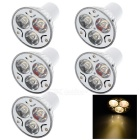 GU5.3 3W 130lm 3200K Warm White Spotlights (AC:220V / 5PCS)