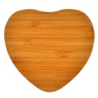 Universal Heart Shaped 5V Qi Wireless Charger - Wood Color