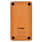 S-What Square Wooden QI Wireless Charger for Cellphone - Wood Color