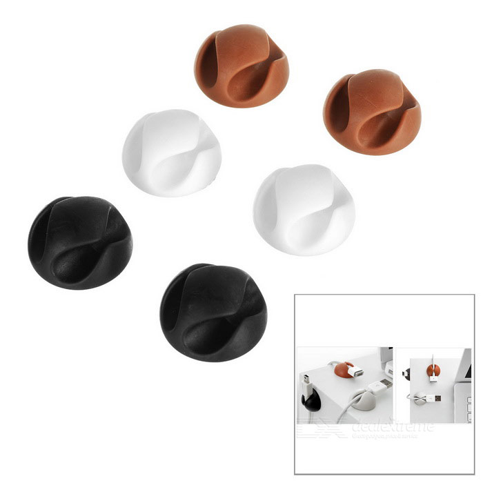 Double Hole Plastic Car Cable Management Fixer - Black + WhiteCable Management<br>Form ColorBlack + White + Multi-ColoredModelcc-929Quantity1 DX.PCM.Model.AttributeModel.UnitShade Of ColorBlackMaterialPPPacking List6 x Cable fixers<br>