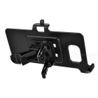 Mini Car Air Vent Mount + Phone Holder Clip for Samsung Note 5 - Black