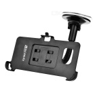 Suction Cup Flexible Car Mount Holder + Clip for Samsung Galaxy S6 Edge Plus - Black