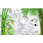 Bizhen 3D Bamboo Simple Classic Mural Wallcovering