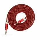 3.5mm macho a macho audio de coche Cable AUX - rojo + negro (153cm)