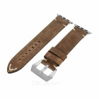 Italian Leather Watchband w/ Attachments + Screwdriver for APPLE WATCH 38mm - Greenish Grey