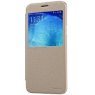 NILLKIN Protective Flip-Open PU Leather + PC Case w/ Auto Sleep for Samsung Galaxy A8 A8000 - Golden