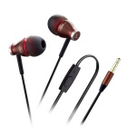 3.5mm In-Ear Wired Earphones w/ Mic. for IPHONE / Samsung + More - Coffee