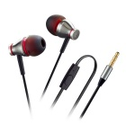 3.5mm In-Ear Wired Earphones w/ Mic. for IPHONE / Samsung + More - Silver