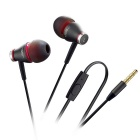 3.5mm In-Ear Wired Earphones w/ Mic. for IPHONE / Samsung + More - Black