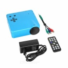 HD Mini LED Home Theater Projector w/ Remote Controller - Blue