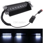 MZ 8-LED Car Strobe Flash Dash Emergency Light Warning Lamp White 3-Modes w/ Adjustable Angle