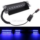 MZ 8W 8-LED Car Strobe Flash Dash Emergency Light Warning Lamp 3-Flash Modes Adjustable Angle Blue