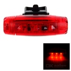 Waterproof Bullet Shaped 3-Mode LED Bike Taillight Red Light