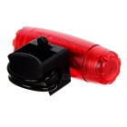 Waterproof Bullet Shaped 3-Mode LED Bike Taillight Red Light - Red