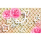 Bizhen 3D Pink Roses Wallpaper Simple Classic Mural Wallcovering