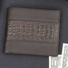 Men's Stylish Top Layer Cowhide Purse Wallet - Coffee