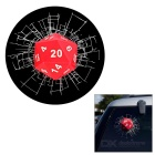 Realistic 3D Dice Car Window / Body Decorative Sticker - Red