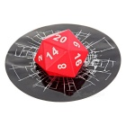 Realistic 3D Dices Car Window / Body Decorative Sticker - Red
