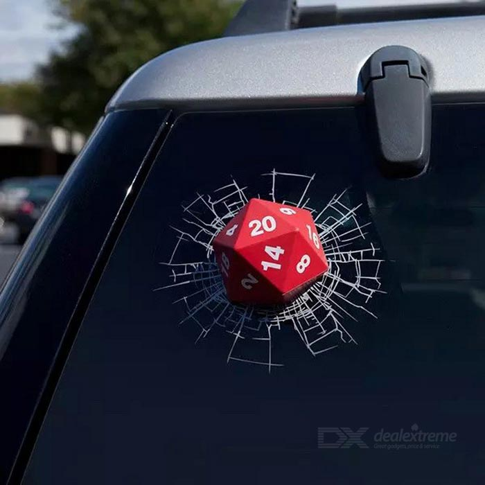 Realistic 3D Dices Car Window Body Decorative Sticker