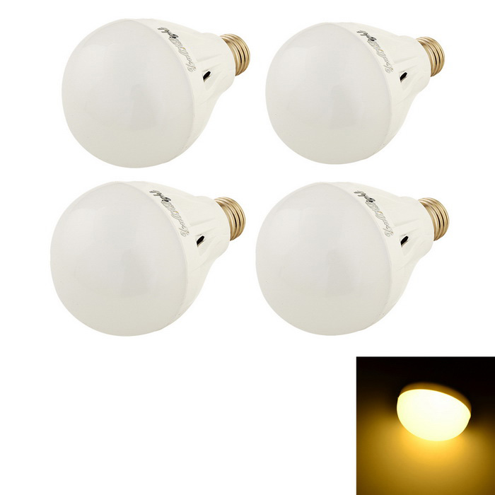 YouOKLight E27 7W LED Light Warm White 3000K 16-SMD - White (4PCS)