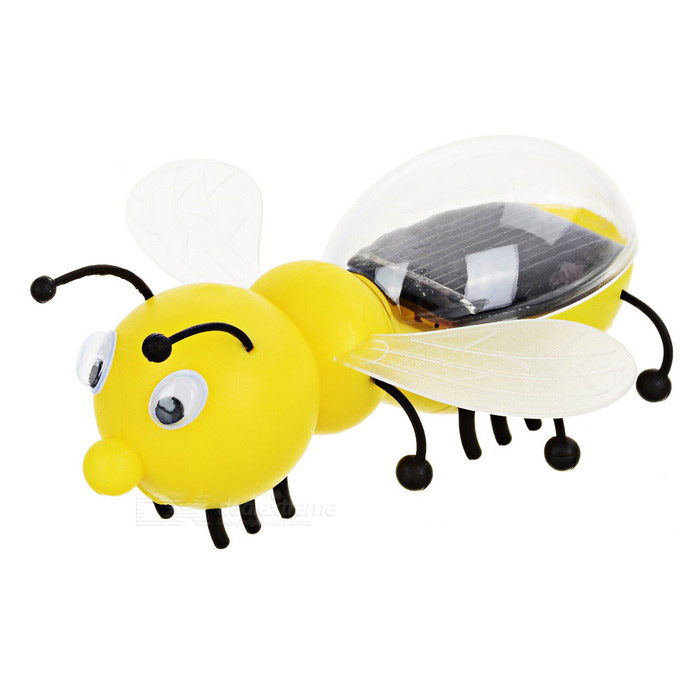 Solar Powered Funny Bee Toy - Yellow