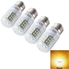 YouOKLight E27 6W LED Corn Light Bulb Lamp Warm White 3000K 500lm 48-SMD 2835 (AC 85-265V/4PCS)