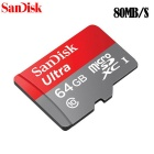 SanDisk SDSQUNC-064G-ZN6MA Ultra 64GB Ultra Micro SDHC UHS-I/Class 10 Card w/ Adapter
