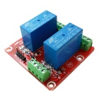 New 2-Channel 5V High Level Dual Power Relay Module - Red + Blue