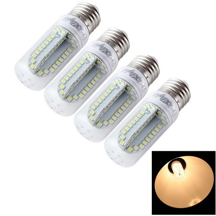 YouOKLight E27 9W LED Corn Bulb Lamp Warm White 900lm 84-SMD (4PCS)
