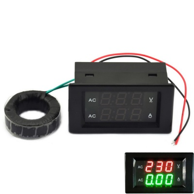 Jtron 3-Digit AC 500V 200A Voltage & Current Meter Tester Module - Black