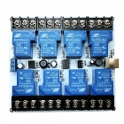 8-Channel 30A High Current USB Relay Module - Blue