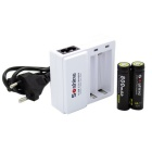 Soshine Li-ion 14500/AA 10440/AAA (3.7V) Smart Charger w/ 14500 Protected Batteries - White