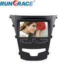 Rungrace Android 7-inch 2 Din Car DVD Player for Ssangyong Korando w/ BT, GPS, IPOD, Wi-Fi, DVB-T