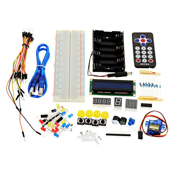 Keyestudio Basic Starter Kit for Arduino - White + Black