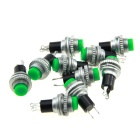 Keine-Lock Pushbutton Switches - Green (10PCS)