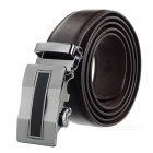 Men's Split Leather Waist Belt w/ Zinc Alloy Buckle - Brown (120cm)