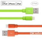 Yellowknife MFi 8pin Lightning to USB Cable for IPHONE 6 / 6S PLUS - Orange + Green (2 PCS / 1m)