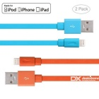 Yellowknife MFi 8pin Lightning to USB Cable for IPHONE 6 / 6S PLUS - Orange + Blue (2 PCS / 1m)
