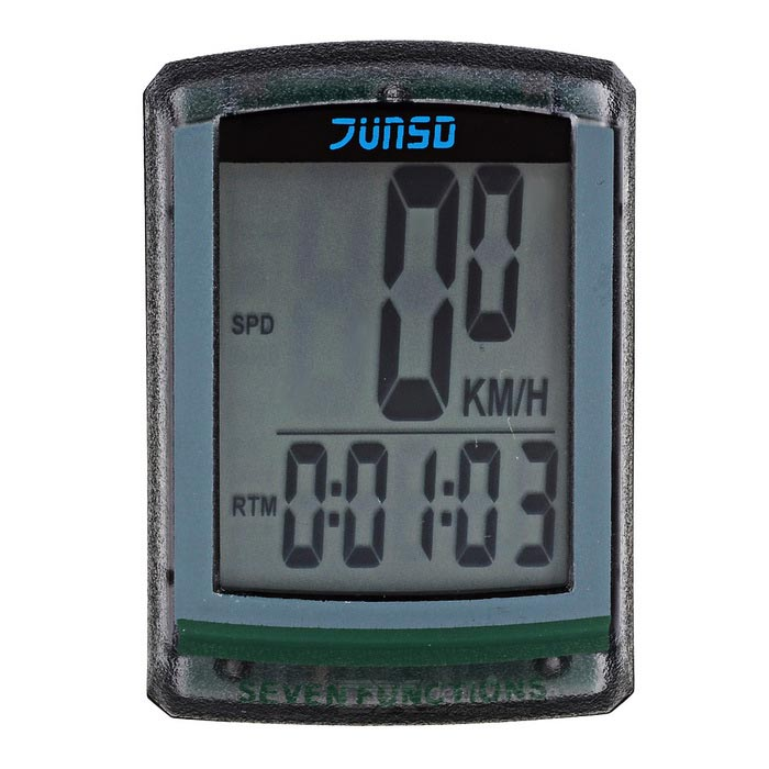 "JUNSD 7-Function Water Resistant 1.5"" Screen Bike Computer - Black"