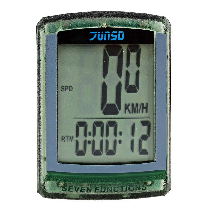 "JUNSD 7-Function Water Resistant 1.5"" Screen Bike Computer - Green"